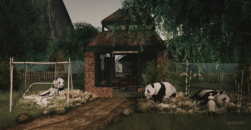 The most beautiful thing to have a panda family....