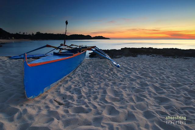 sunset view at Cabongaoan Beach