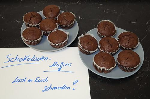 Schokoladen-Muffins im Büro (anlässlich meines Geburtstages)