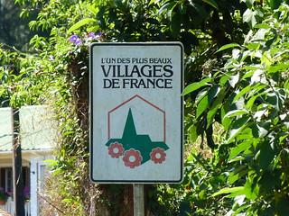 Cartel de Les Plus beaux villages de France en Hell-Bourg (Isla Reunión)