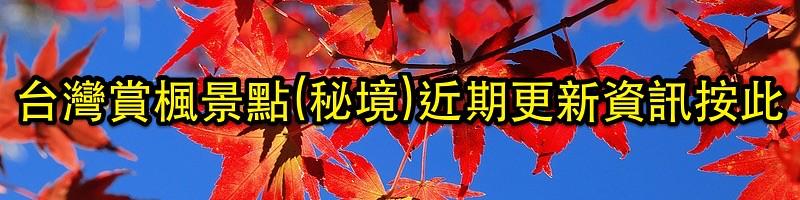 台灣賞楓景點