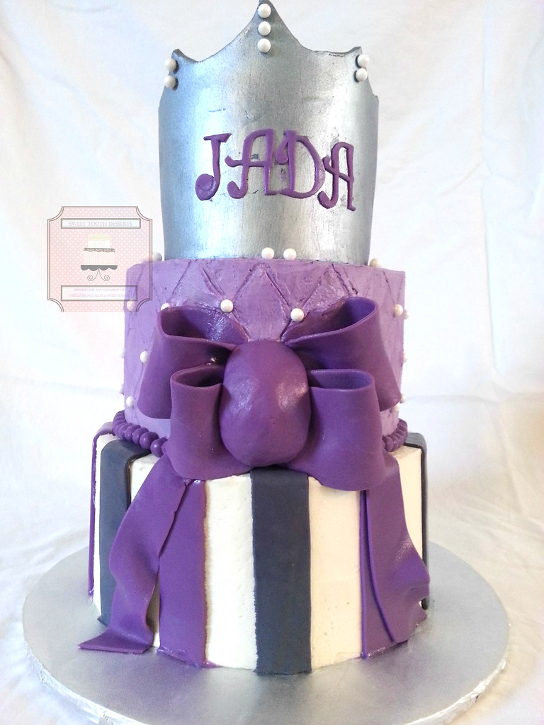 Little Princess Baby Shower Cake 2 Tier 7in And 9in Purp Flickr