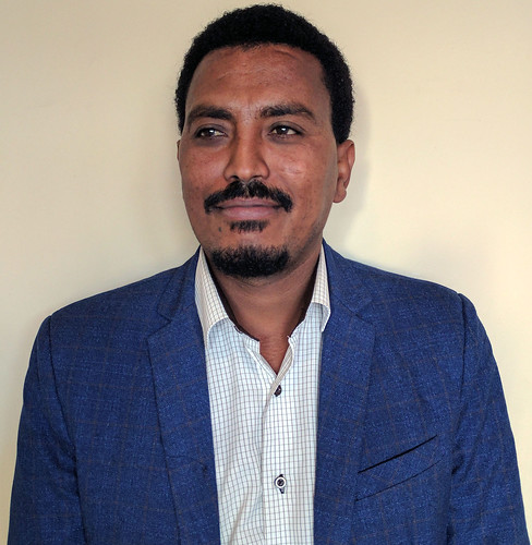 Shumye Belay is a Sub National Coordinator for the Africa Chicken Genetic Gains (ACGG) Project in Tigray, Ethiopia. (photo credit: ILRI / M. Tsegaye)