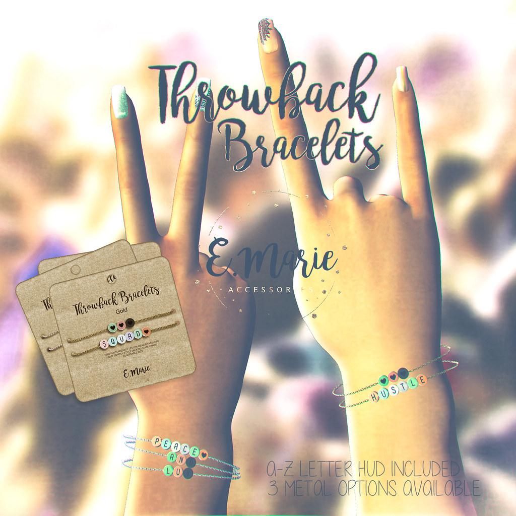 Throwback Bracelets @Kustom9