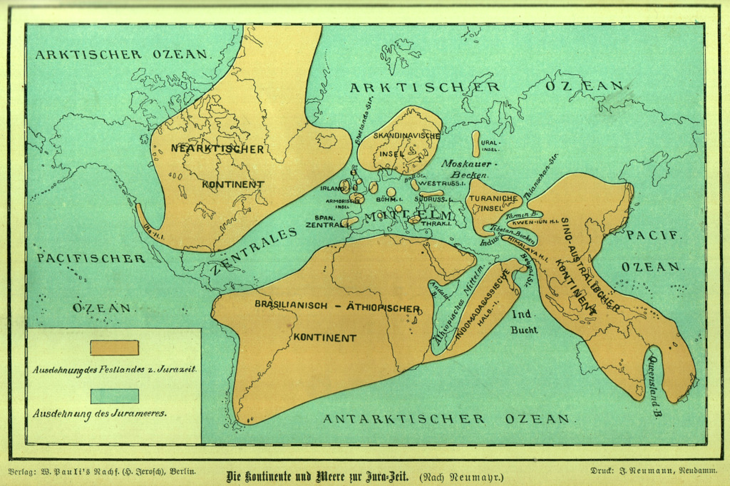 The continents and seas in the jurassic period wilhelm bl flickr the continents and seas in the jurassic period by quadralectics gumiabroncs Images