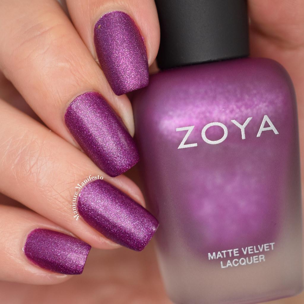Zoya matte velvet swatch