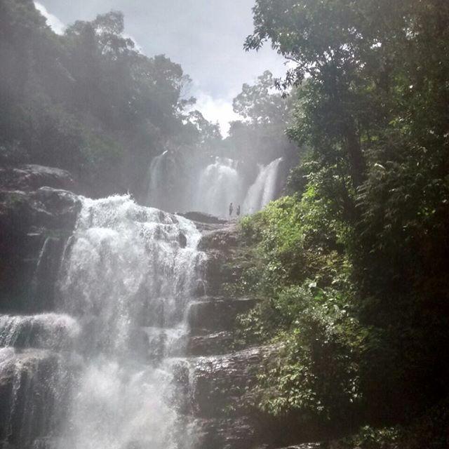 the beauty of costa ricanature waterfall sky sun s