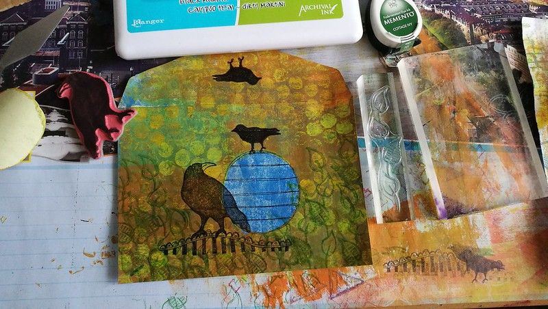 springtime birds mail art