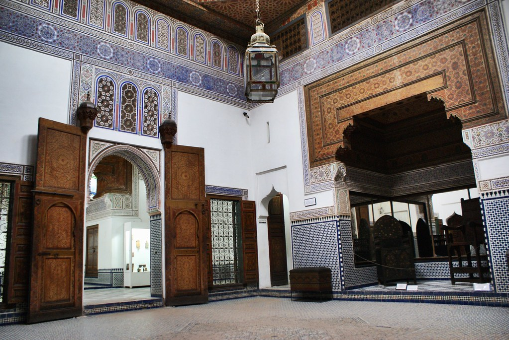 Le riad où se trouve le musée Dar Si Said de Marrakech est une beauté.