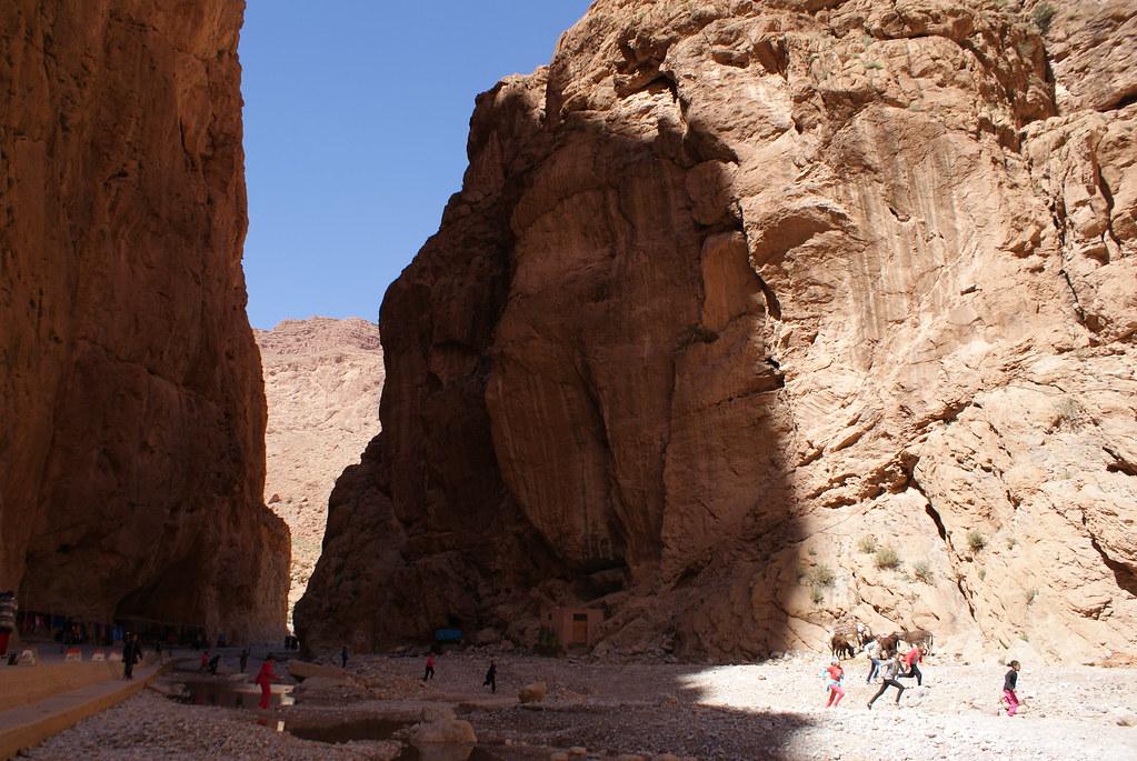 Un petit bout des gorges de Toudra près de Tinghir au maroc.