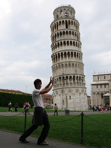 The Leaning Tower Pushes Brad | by Darren and Brad
