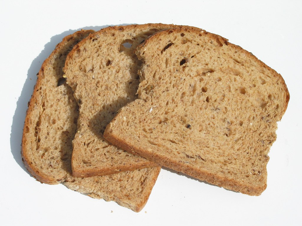 bread | Three slices of stale brown, multigrain bread | How can I ...