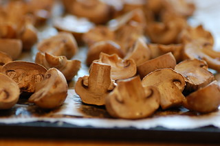oven dried button mushrooms | by jules:stonesoup