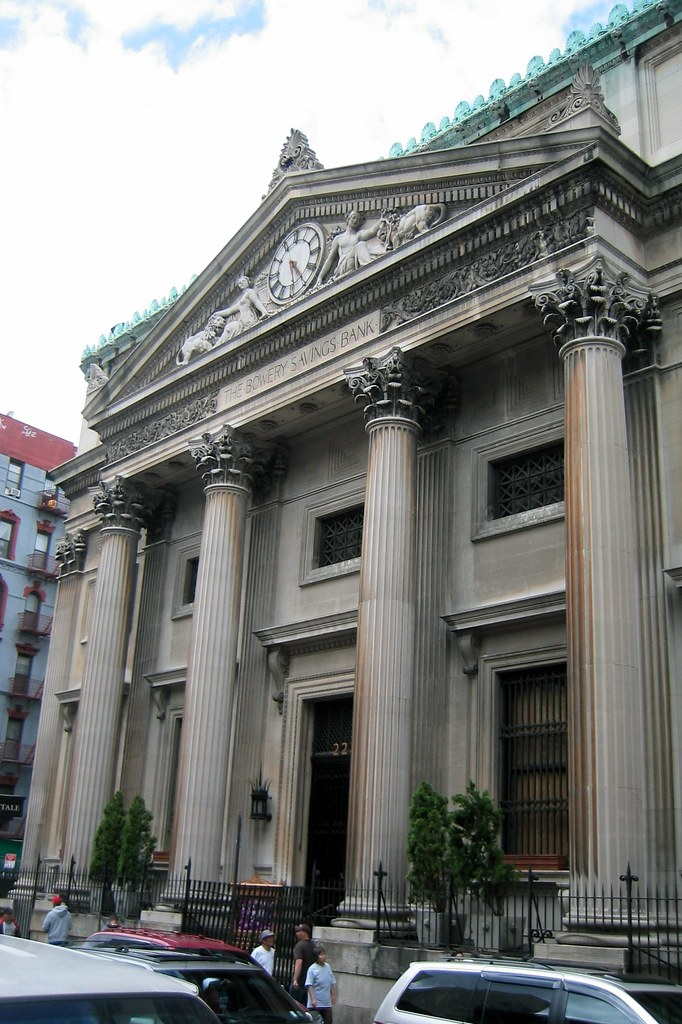 Nyc Chinatown Capitale Former Bowery Savings Bank