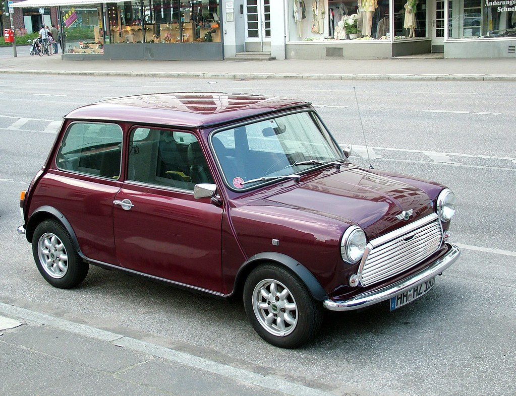 dark red mini cooper dark red old mini cooper seen in hamb flickr. Black Bedroom Furniture Sets. Home Design Ideas