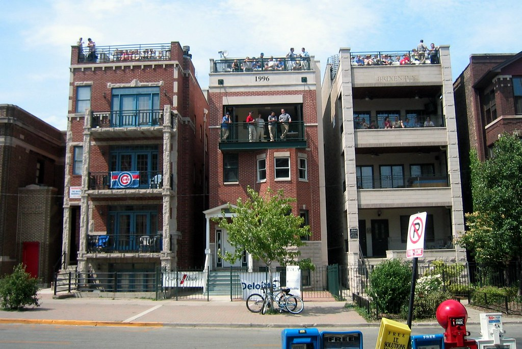 Chicago Wrigley Field Left Field Rooftops On Waveland A