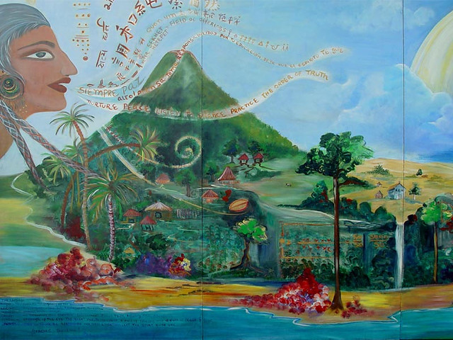Mural roots and frequencies basic to our education flickr for Education mural