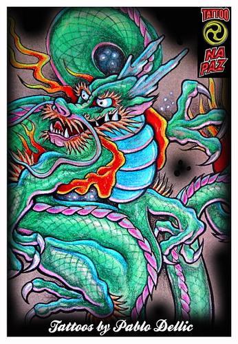 Desenho Para Tatuagem Chinese Dragon Tattoo Draw Telemovel Flickr