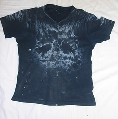 Working t shirt front my t shirt after a weeks worth of for Deodorant stains on black shirt