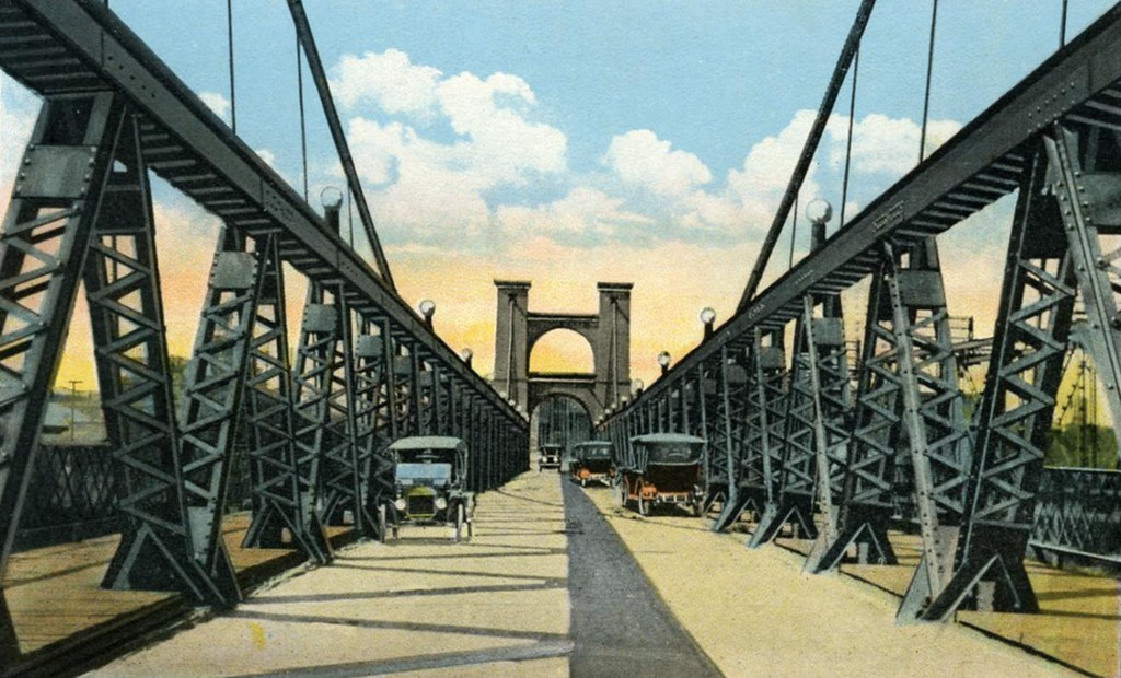 Vintage Postcard Waco Suspension Bridge Waco Texas Flickr