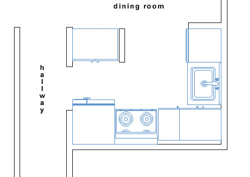 Kitchen plans the basic plans of our small kitchen mouse flickr - Small kitchen floor plans ...