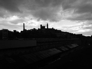 A rather dramatic view of Calton hill from just under South Bridge, Edinburgh | by Semi-detached
