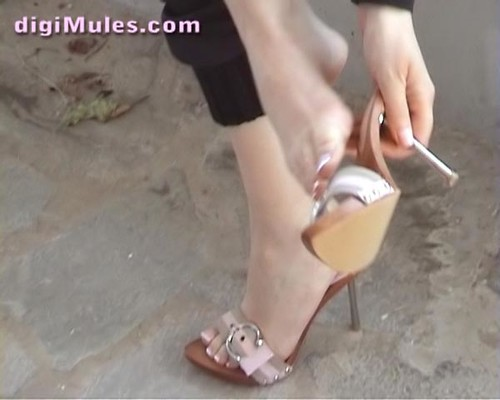 Sexy heels mules dangling full hd preview of my website - 3 part 1