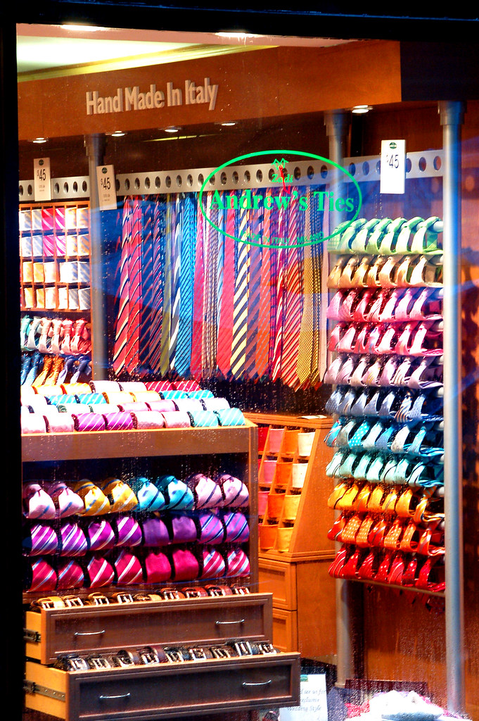 Tie Store This Is A Very Compulsive Window Display