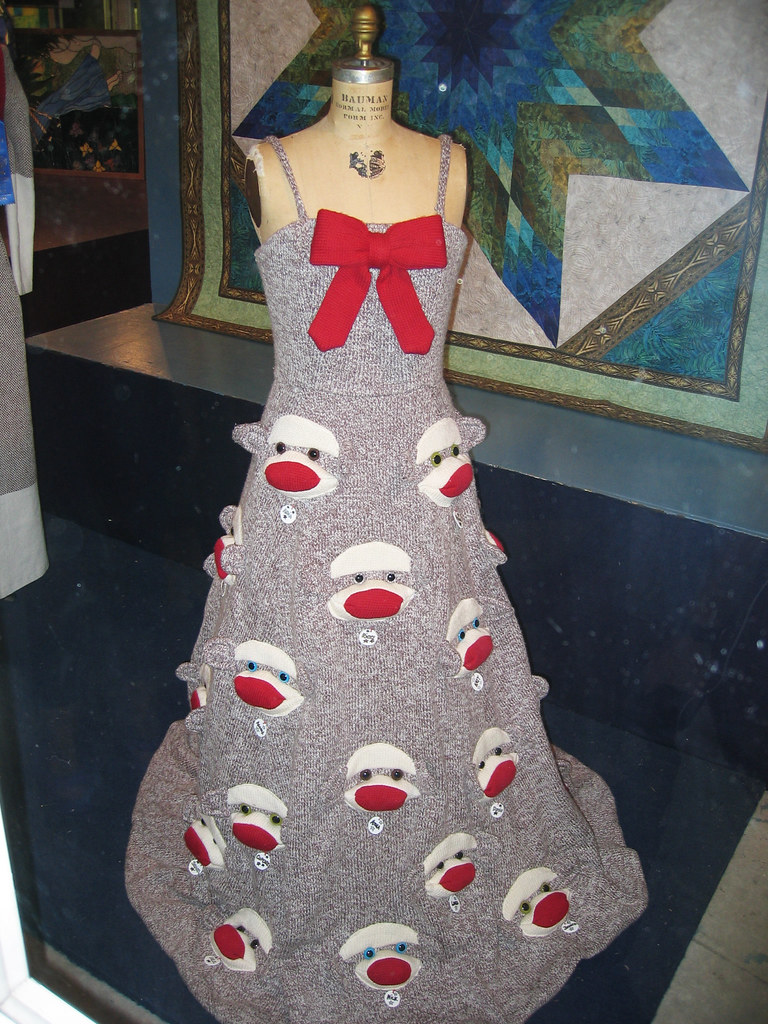 Sock Monkey Prom Dress | Minneapolis designer Rebecca Yaker … | Flickr