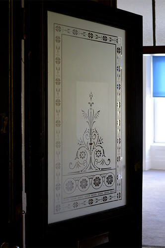 Etched glass door window scotland glasgow 1 victorian for Glass etching designs for doors
