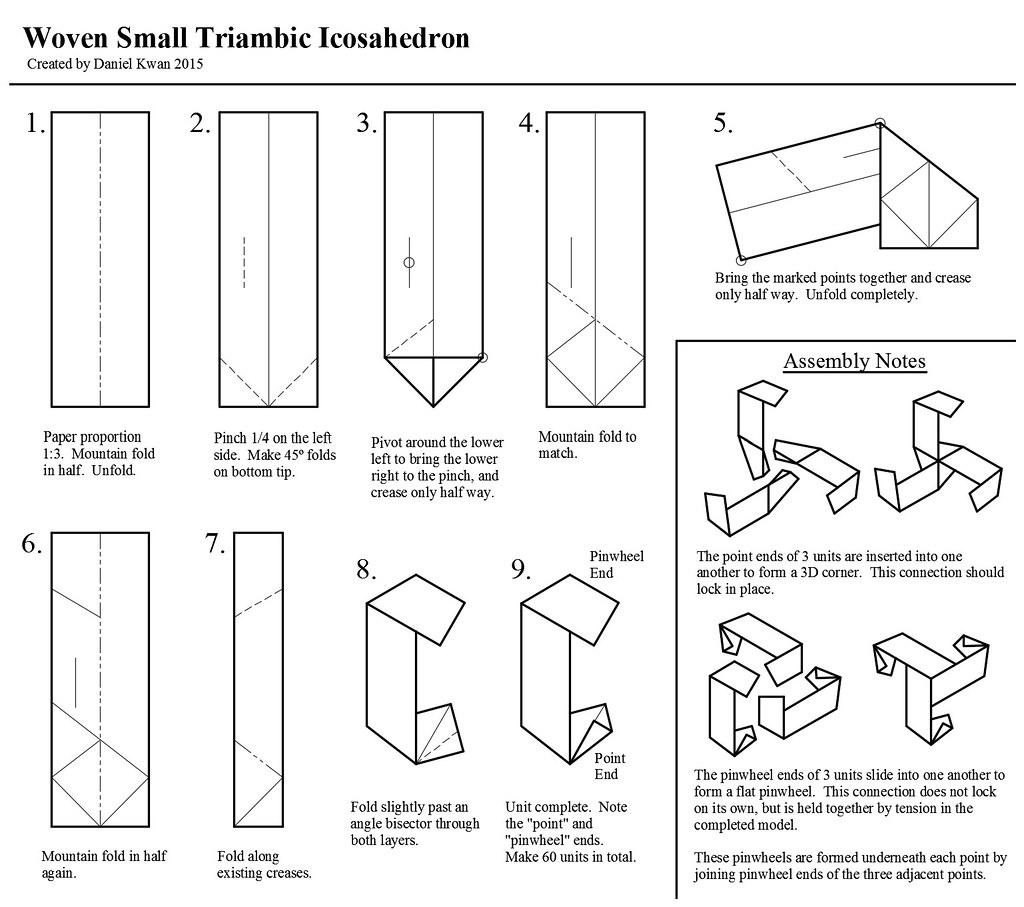 Woven Small Triambic Icosahedron Diagrams