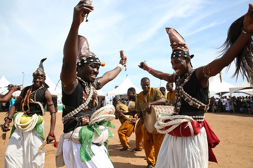 People dancing at the announcement of the global launch of Poverty in Rising Africa in Accra, Ghana | by World Bank Photo Collection