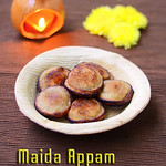 Maida appam with sugar