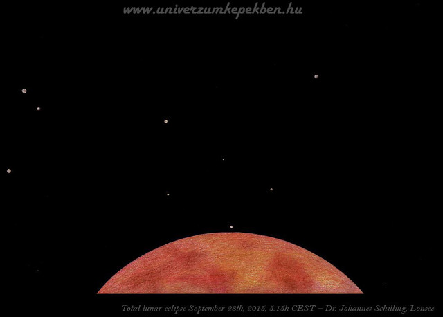 Rising of a star during total lunar eclipse - Dr. Johannes Schilling, Lonsee