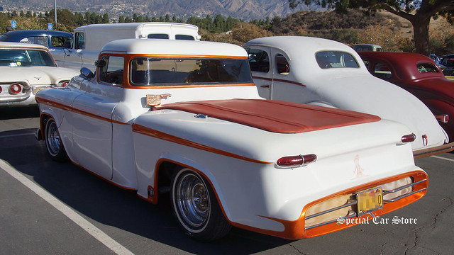 1956 Chevrolet custom pick up at the Celebration of the George Barris Legacy