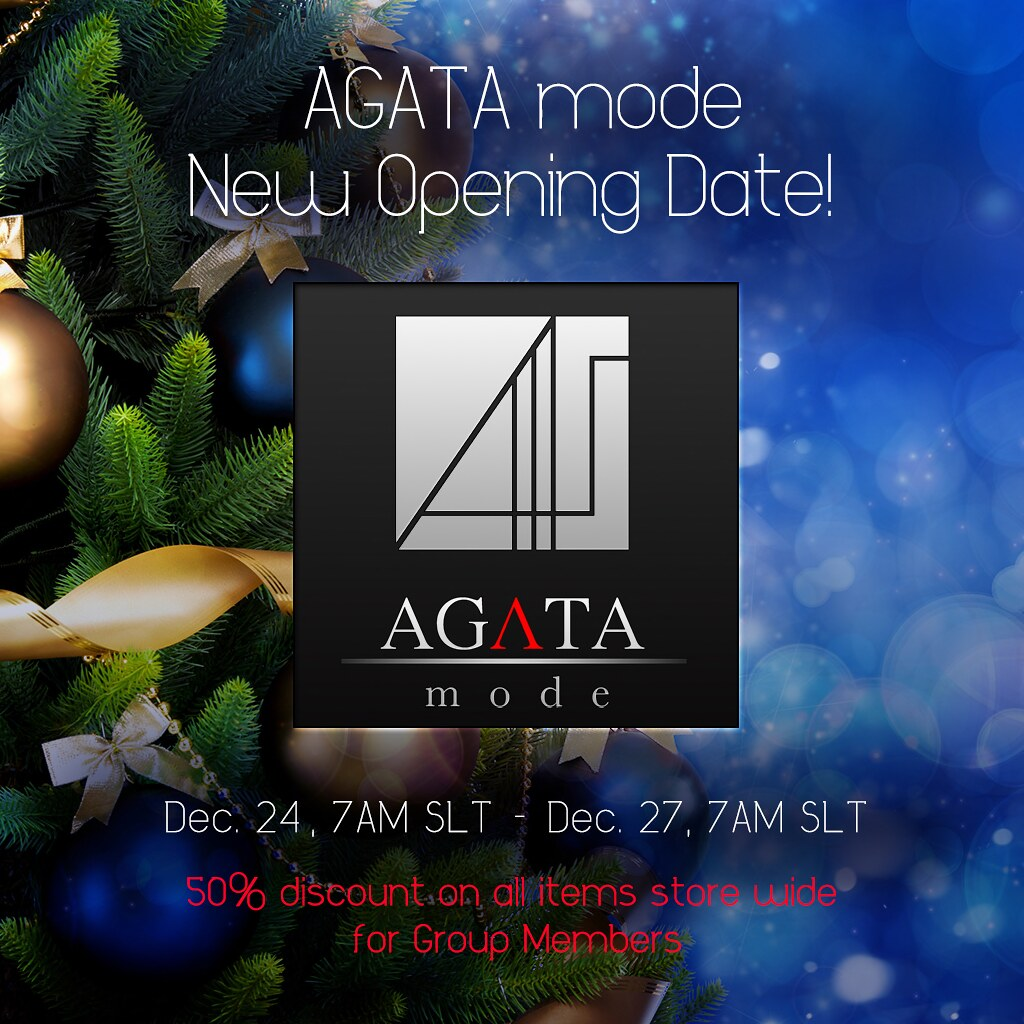 AGATA Grand Opening Date - Change