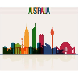 free vector Happy Australia Day Colourful City Background | by cgvector