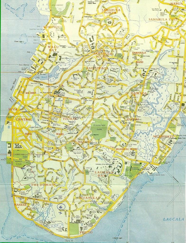 map of suva  fiji  1996