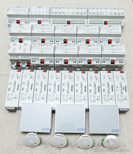 Управление светом и климатом на основе KNX для квартиры 150м*м.