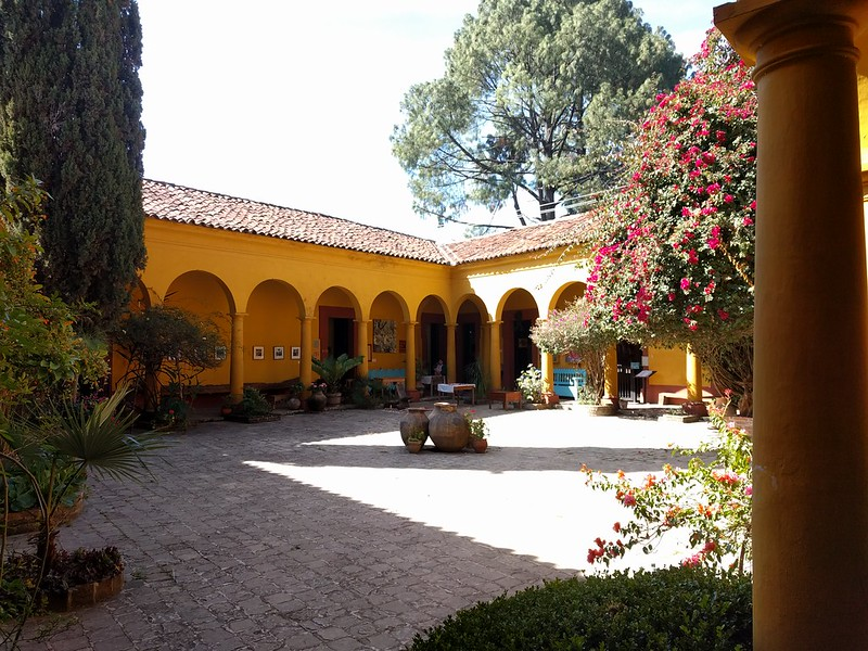 Na Bolom's beautiful courtyard