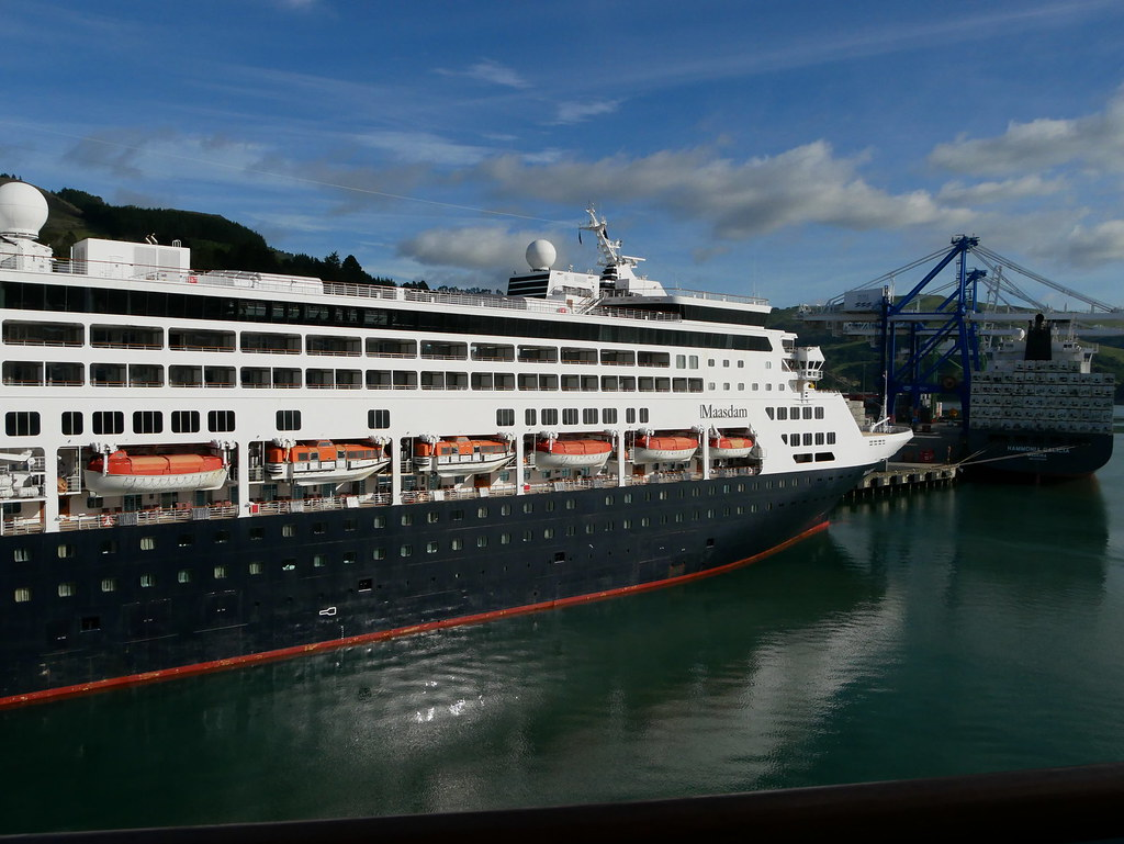 Maasdam At Port Chalmers New Zealand  HAL Cruise Ship