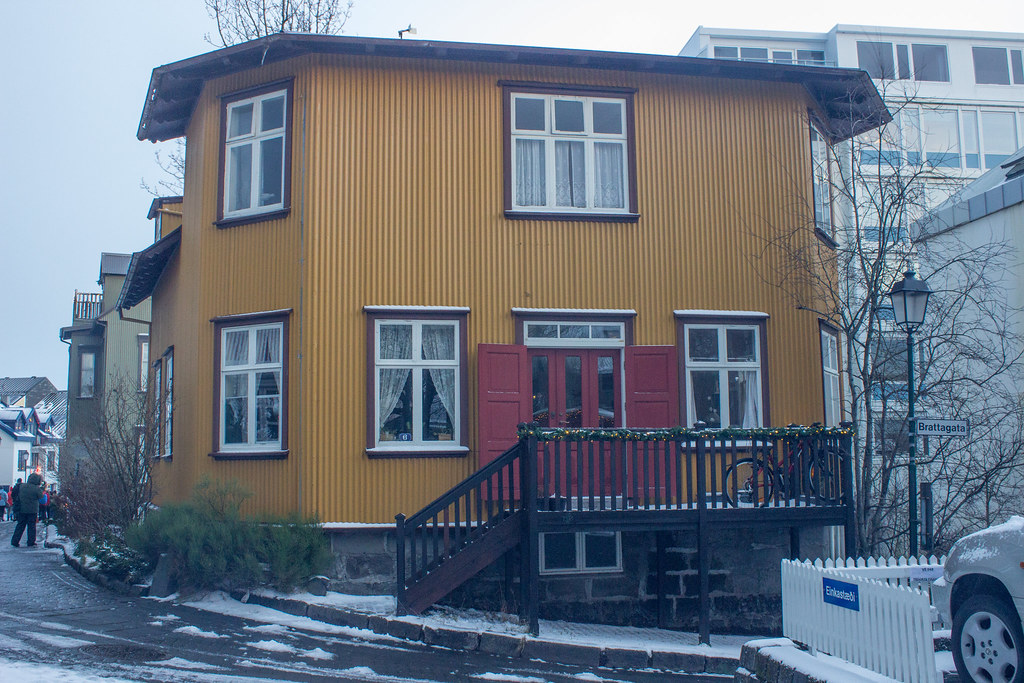 A yellow house in Reykjavik