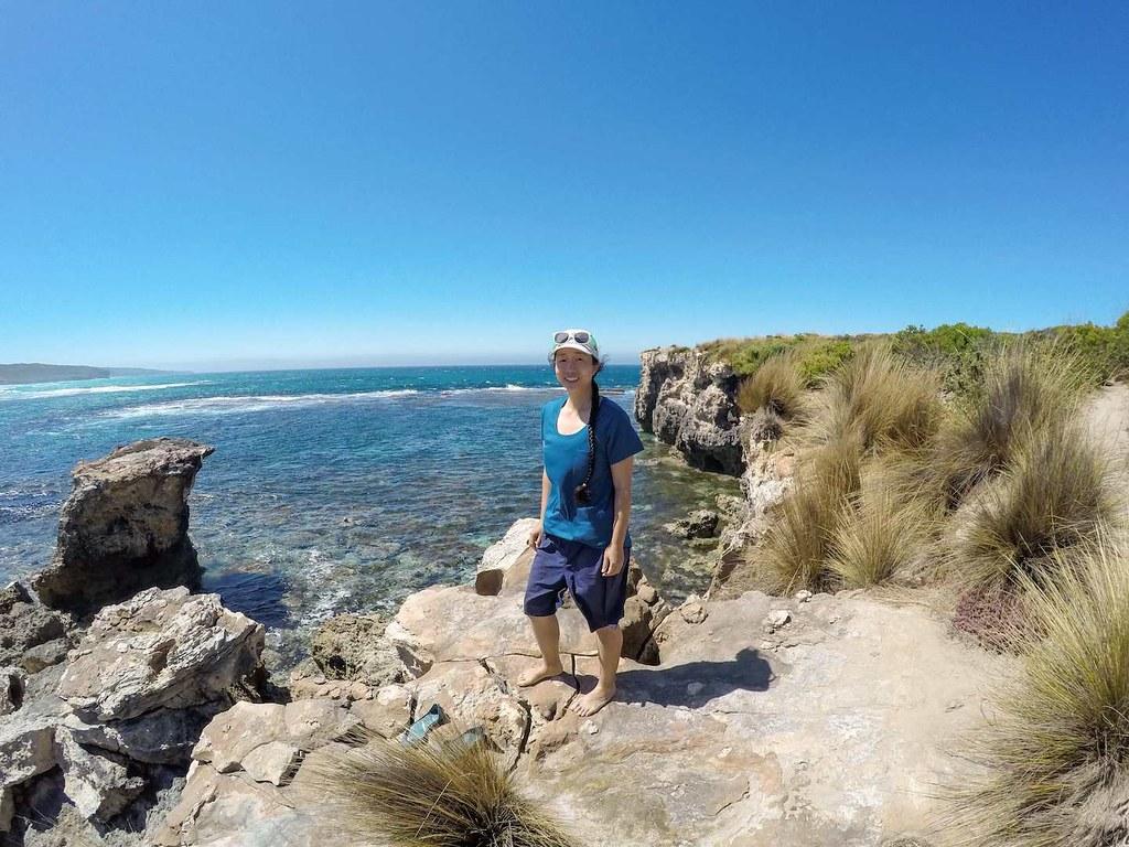On the ledge at Hanson Bay on Kangaroo Island