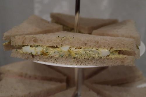 Sandwiches mit Eiersalat (= egg sandwich)