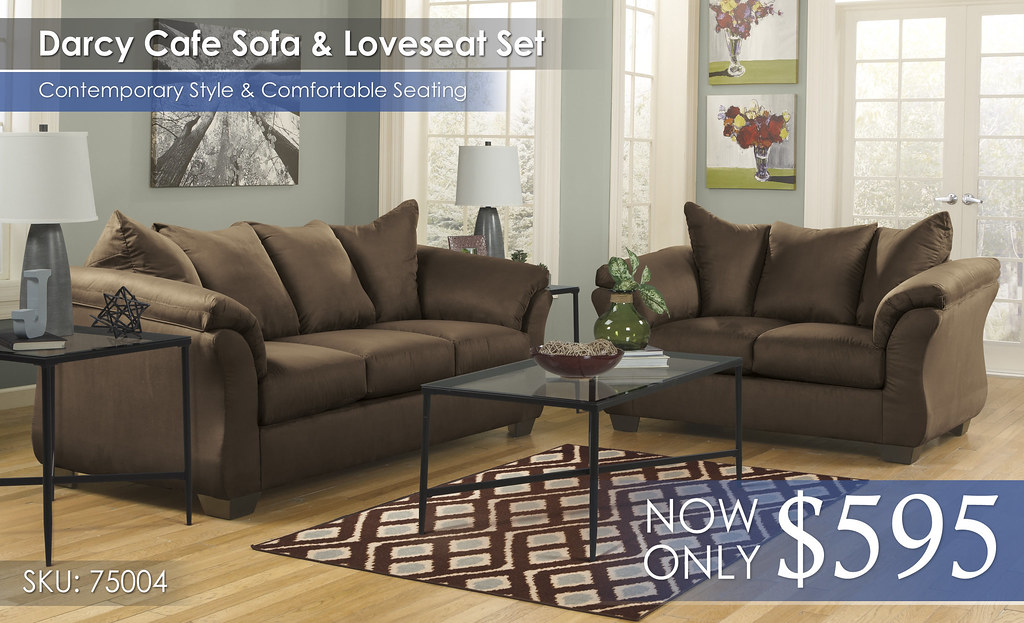 Darcy Cafe Sofa & Loveseat 75004-38-35-T003