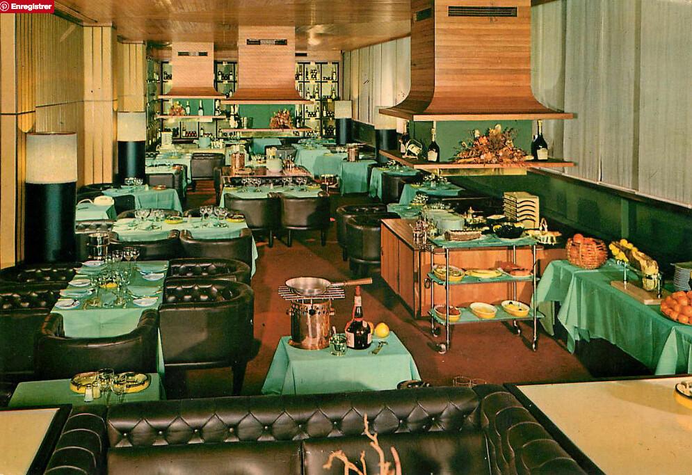 Restaurant du Grand Hotel Elite à Bologne dans les années 60/70.