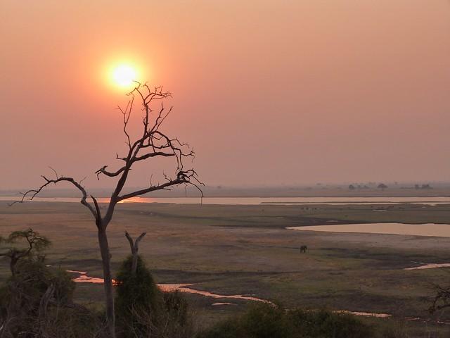 Atardecer sobre el río Chobe (Botswana)