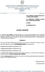 AVVISO URGENTE INIZIO ATTIVITA' DIDATTICHE
