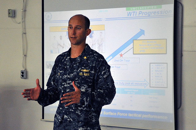 Lt. Cmdr. Matt Cox, warfare tactics instructor (WTI)