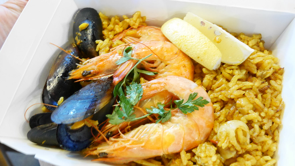 Seafood paella ($15) from Cin.qo Tapas.
